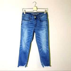 American Eagle | Jeans Crop Jeggings Raw Hem 6
